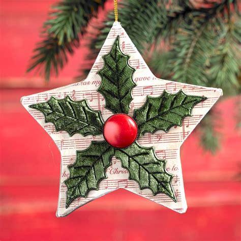 decoupage quick ornament diy christmas star mod