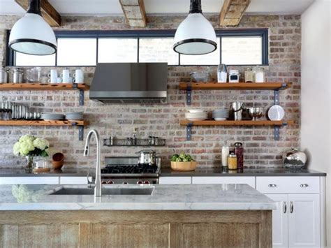 Open Kitchen Shelving Ideas Industrial Kitchen With Open Shelving Decoist