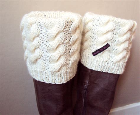 knit cuffs boot cuff boot sock leg warmer knitted in by madeinheda