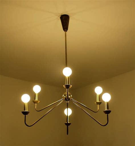 Caillat Set brass chandelier robert caillat circa 1955 for sale at 1stdibs
