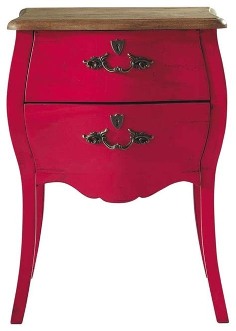 pink nightstand haute couture pink nightstand traditional nightstands and bedside tables by maisons du monde