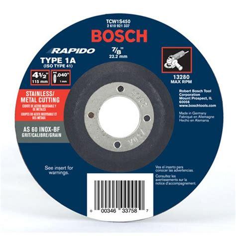 Cutting Whell bosch 4 1 2 in thin metal cut wheel ideal for
