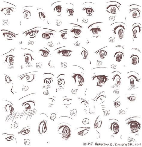 Anime Expressions by Anime Eye Expressions Practice