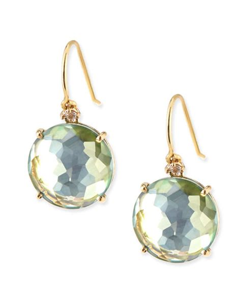 Tunic Topaz 12 kalan by suzanne kalan 14k yellow gold wire drop earrings