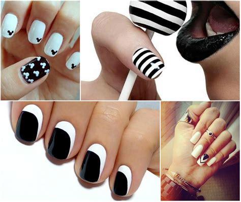 imagenes uñas color negro u 241 as en blanco y negro actitudfem