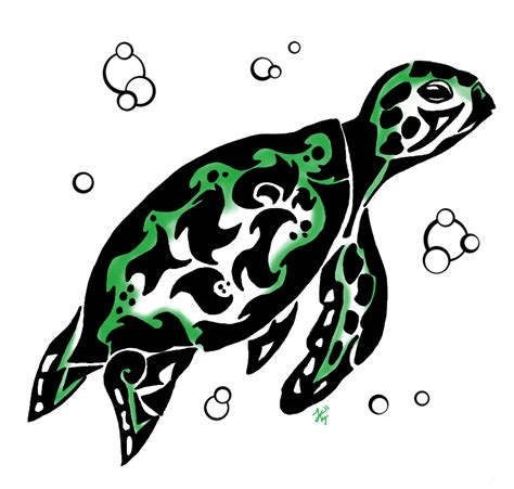 tribal turtle tattoos tribal turtle tattoos clipart best