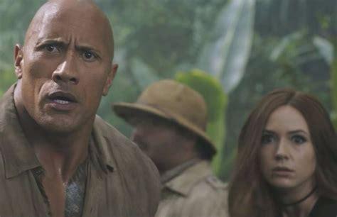 film jumanji trailer watch nick jonas the rock more in a thrilling new