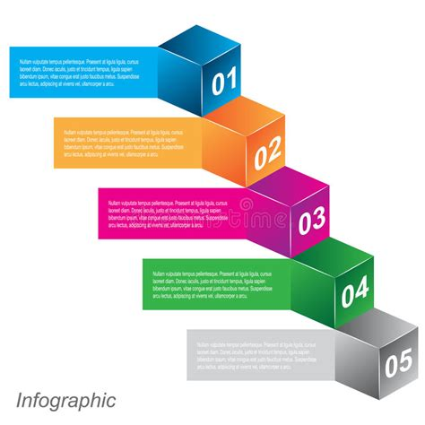 Info Graphic Design Templates In The Form Of A 3d Box Stock Vector Illustration Of Collection Graphic Design Templates