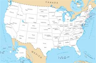 united states map with labeled states and capitals map of the united states and capitals for