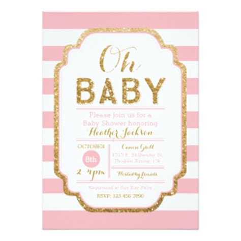 pink baby shower invitation templates baby shower invitations zazzle