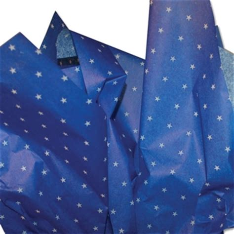 blue patterned tissue paper little stars blue printed tissue paper