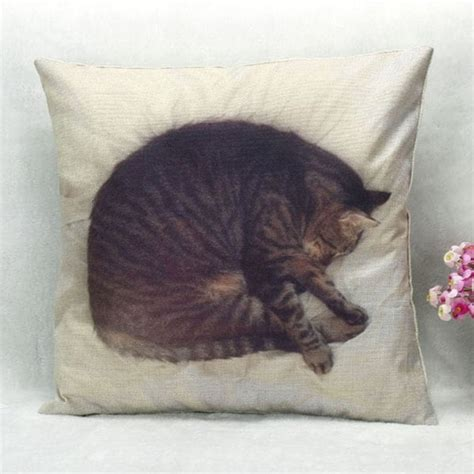 sleeping without pillow decorative pillows shams colormix sleeping cat pattern