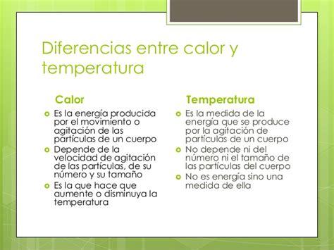 diferencia entre imagenes informativas y expresivas calor y temperatura