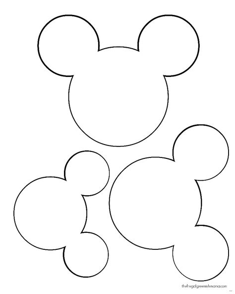 minnie mouse cut out template minnie mouse printable thekindproject