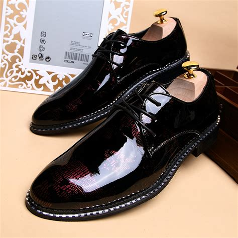 wholesale luxury fashion s leather shoes black dress