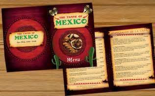 mexican menu template best photos of mexican restaurant menu template blank