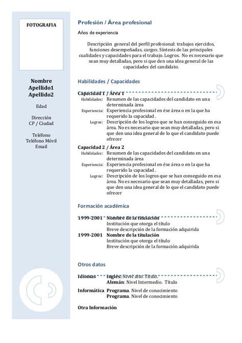 Modelo De Curriculum Funcional Pdf Curriculum Vitae Funcional Sencillo