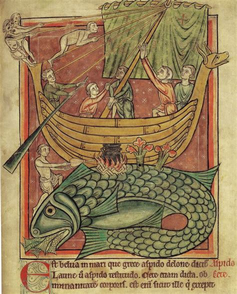sea monsters on medieval the old reader
