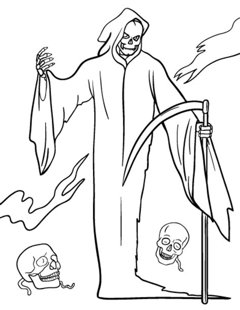 best grim reaper coloring pages coloring pages