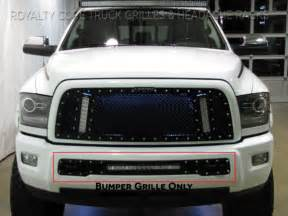dodge ram 2010 2012 bumper grille with 20 quot led bar