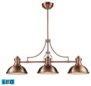Pool Table Pendant Lights Chadwick 3 Light Billiard Island Light Antique Copper Traditional Pool Table Lights By