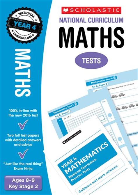 national 4 maths national curriculum sats tests maths tests year 4 scholastic shop