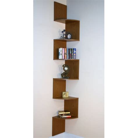 Corner Bookshelf The Concept To Economize A Space Small Corner Wall Bookshelves