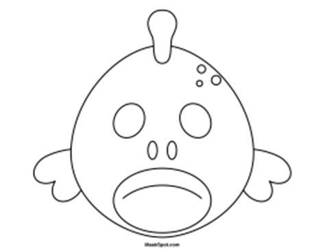 printable fish mask template printable fish mask