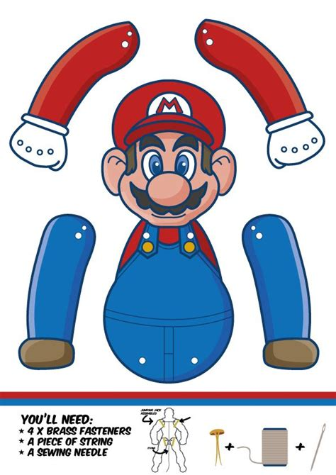 printable paper mario 845 best mario brothers printables images on pinterest