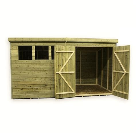 Pent Shed 6 X 3 by 14 X 6 Pressure Treated Tongue And Groove Pent Shed With
