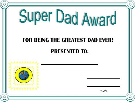printable gift certificates for father s day father s day certificates printable day award