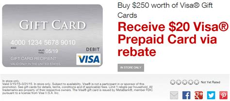 Visa Gift Card Discount - staples visa gift card promo and easy rebate deals on paper