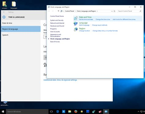 region and language get old language indicator and language bar in windows 10