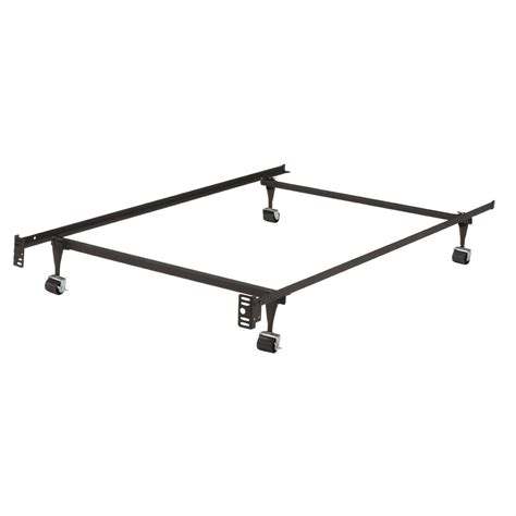 queen metal bed frames twin metal bed frame w locking rug roller wheels