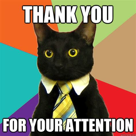 thank you for your attention cat meme cat planet cat