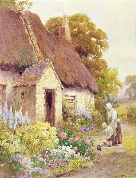 Country Cottage Paintings country cottage painting by joshua fisher