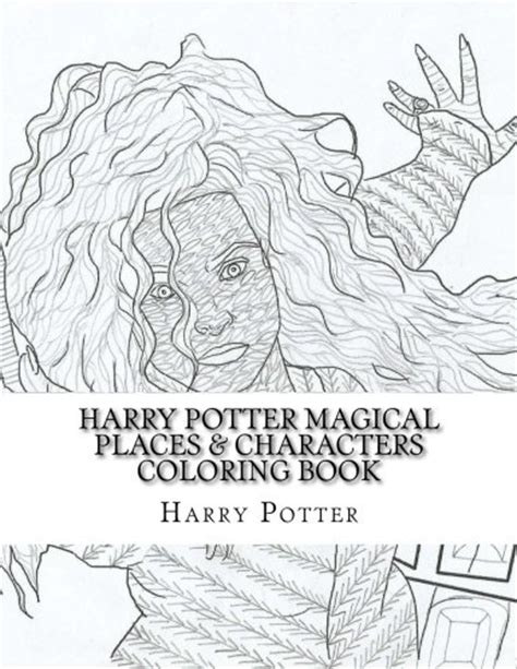 harry potter coloring book places and characters harry potter magical places characters coloring book