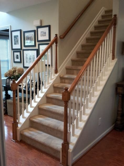 Banister Remodel by Staircase Railing Remodel Stair Banister Renovation Build