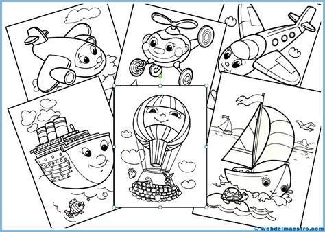 Imagenes Infantiles Medios De Transporte | dibujos infantiles para colorear medios de transporte