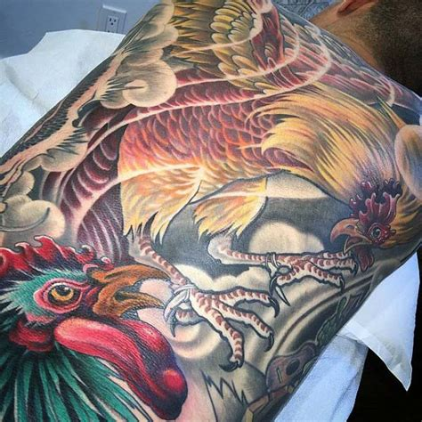 fighting rooster tattoo designs 100 rooster designs for of ink