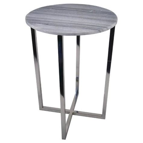 marble top accent table threshold round grey marble top accent table