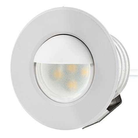Led Step Lights by Led Step Lights White 40mm Metal Trim With Mini