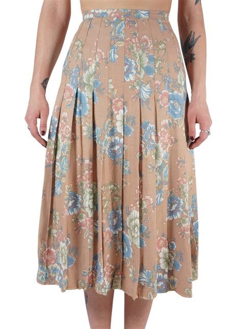 Summer Skrit For Vintage pleated skirt rerags vintage clothing wholesale