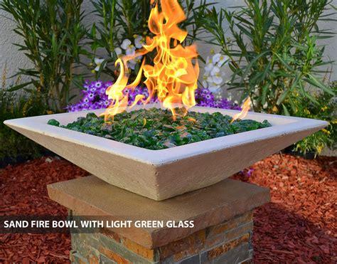 concrete fire bowls square