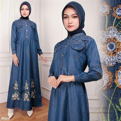 Grosir Baju Trendy Hits 2018 Jual Baju Murah Terbaru Dress Murah 2 jual baju gamis bordir g1267 modern trend terbaru januari 2018 2019 grosir baju bamis murah