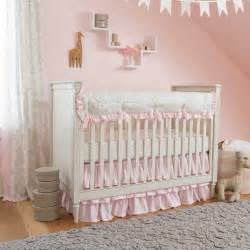 French gray and pink damask crib bedding carousel designs