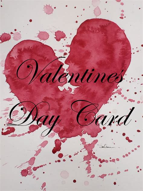 watercolor heart tutorial how to paint a valentines card in watercolor watercolour