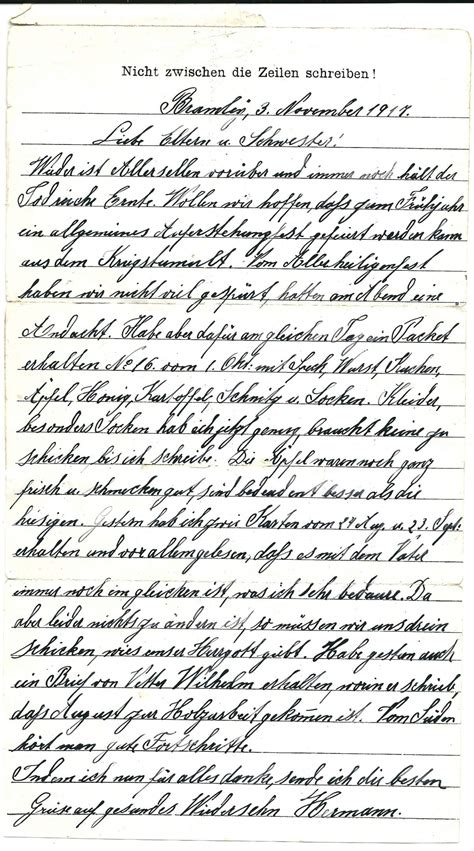 Thank You Letter To In German Need Help Selection Of 10 Ww1 German Pow Letters Page 2