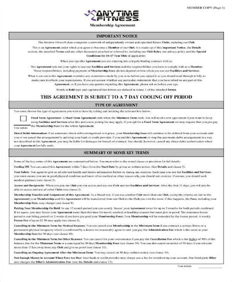 8 Gym Membership Contract Templates Pages Docs Word Free Premium Templates Fitness Contract Template