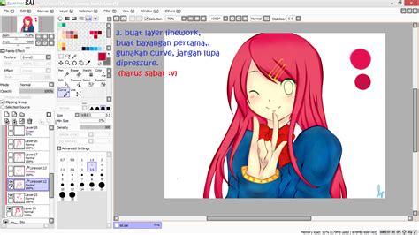 tutorial paint tool sai membuat anime tutorial mewarnai anime di paint tool sai menggunakan mouse